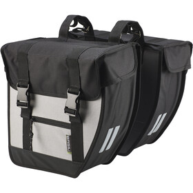 Basil Tour Double Bag XL, black/silver
